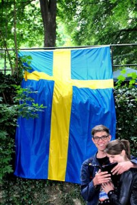 Selfie zum Mittsommerfest nach schwedischer Tradition